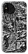 H2 Sunflowers Map Bw IPhone Case