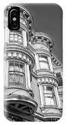 Haight Street Windows Bw IPhone Case