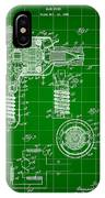 Hair Dryer Patent 1929 - Green IPhone Case