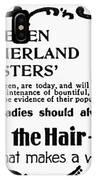 Hair Treatment Ad, 1894 IPhone Case