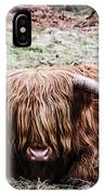 Hairy Cow IPhone Case
