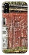 Hairy Red Barn IPhone Case