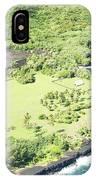 Aerial View Hale O Pi'ilani Heiau Honomaele Hana Maui Hawaii  IPhone Case