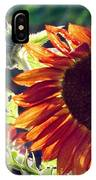 Half Of A Sunflower IPhone Case