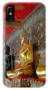Hall Of Buddhas At Wat Suthat In Bangkok-thailand IPhone Case