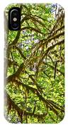 Hall Of Mosses In Hoh Rain Forest In Olympic National Park-washington IPhone Case