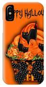 Halloween Black Cat Cupcake 3 IPhone Case