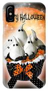 Halloween Ghost Cupcake 1 IPhone Case