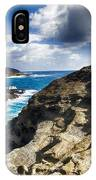 Halona Blowhole Lookout- Oahu Hawaii V2 IPhone Case