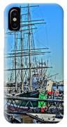 Hamburg Germany Sail Boat With Elbphilharmonie IPhone Case
