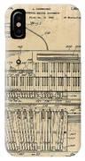 Hammond Organ Patent IPhone Case