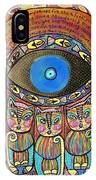 Hamsa Cat Blessing IPhone Case