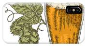 Hand Drawn Beer Glass With Hops Plant IPhone X Case