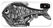 Hand Drawn Vector Illustration. Retro IPhone X Case