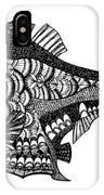 Hand Drawn Vector Illustration. Retro IPhone Case