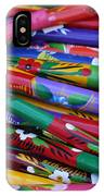Hand Painted Wooden Flutes Playa Del Carmen Mexico IPhone Case