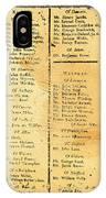 Handbill: Casualties, 1775 IPhone Case