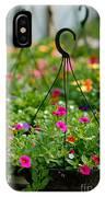 Hanging Flower Baskets Shallow Dof IPhone Case