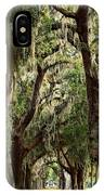Hanging Moss And Giant Oaks IPhone Case