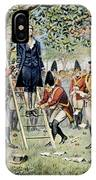 Hanging Of Nathan Hale IPhone Case