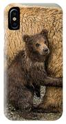Hanging Onto Mom IPhone Case