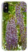 Hanging Wisteria Blossoms IPhone Case