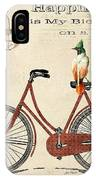 Happiness Is My Bicycle IPhone Case