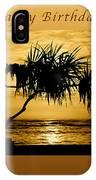 Happy Birthday Golden Sunrise IPhone Case