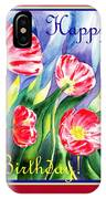 Happy Birthday Pink Poppies IPhone Case
