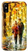 Happy Couple - Palette Knife Oil Painting On Canvas By Leonid Afremov IPhone Case