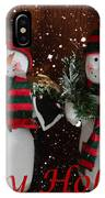 Happy Holidays - Christmas - Snowman Collection - Greeting Cards IPhone Case