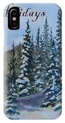 Happy Holidays Forest And Mountains IPhone Case