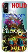 Happy Holidays Word Splash A IPhone Case