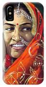 Happy Indian Women IPhone Case