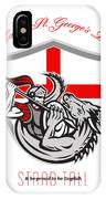 Happy St George Stand Tall Proud To Be English Retro Poster IPhone Case