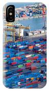 Harbor With Lots Of Cargo IPhone Case