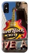 Hard Rock Cafe Guitar Sign In Philadelphia IPhone Case