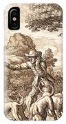 Hare Hunting, Engraved By Wenceslaus IPhone Case