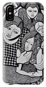 Harlequin And The Masked Moon IPhone Case