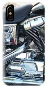 Harley Black And Silver Sideview IPhone Case