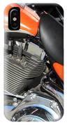 Harley Close-up Orange 1 IPhone Case