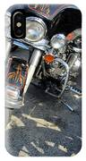Harley Close-up W Shadow 1 IPhone Case