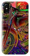 Harley Davidson In Neon  IPhone Case