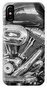 Harley Davidson Motorcycle Harley Bike Bw  IPhone Case