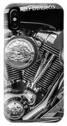 Harley Davidson Ultra Classic Monochrome IPhone Case