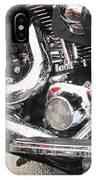 Harley Engine Close-up Rain 2 IPhone Case