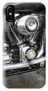 Harley Engine Close-up Rain 3 IPhone Case