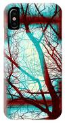 Harmonious Colors - Red White Turquoise IPhone Case