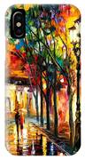 Harmony - Palette Knife Oil Painting On Canvas By Leonid Afremov IPhone Case