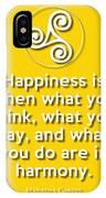 Harmony Yellow IPhone Case